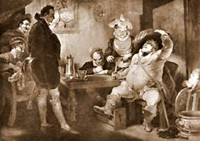 Henry IV Part 1 is a good place to start for new Shakespeare readers.  Its speech isn't too complex and the story is easy to follow and quite enjoyable, particularly the fat, slovenly friend, Falstaff.